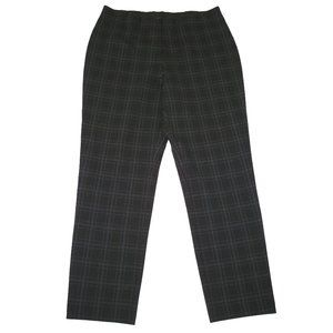 NWT J. Jill Ponte Slim-leg Pants Plaid Grid L